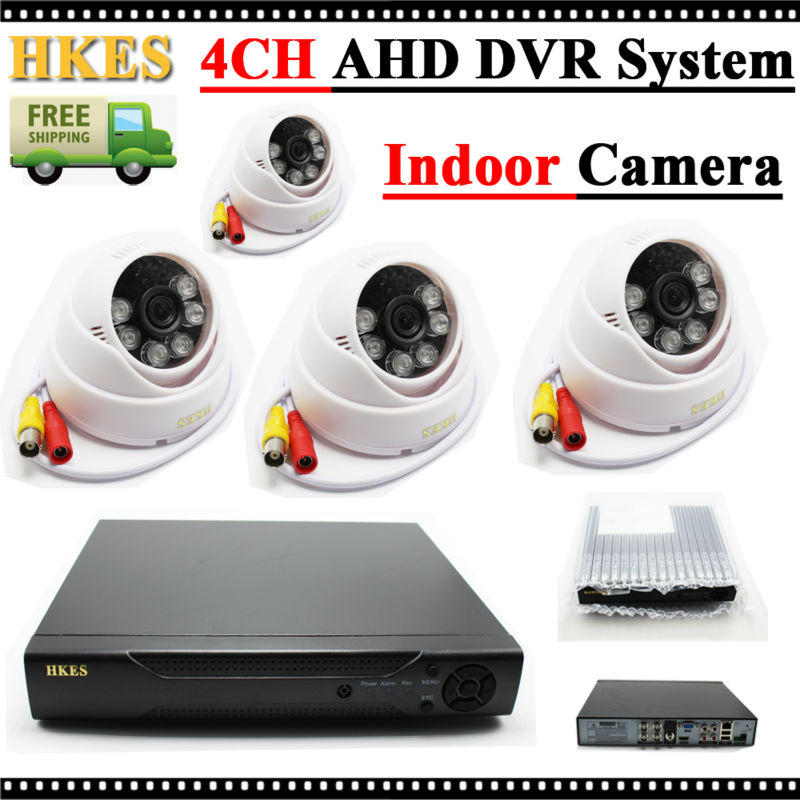 ФОТО HKES 1280*720P AHD Mini Camera Indoor with 4CH AHD DVR 1080N CCTV System Free Shipping