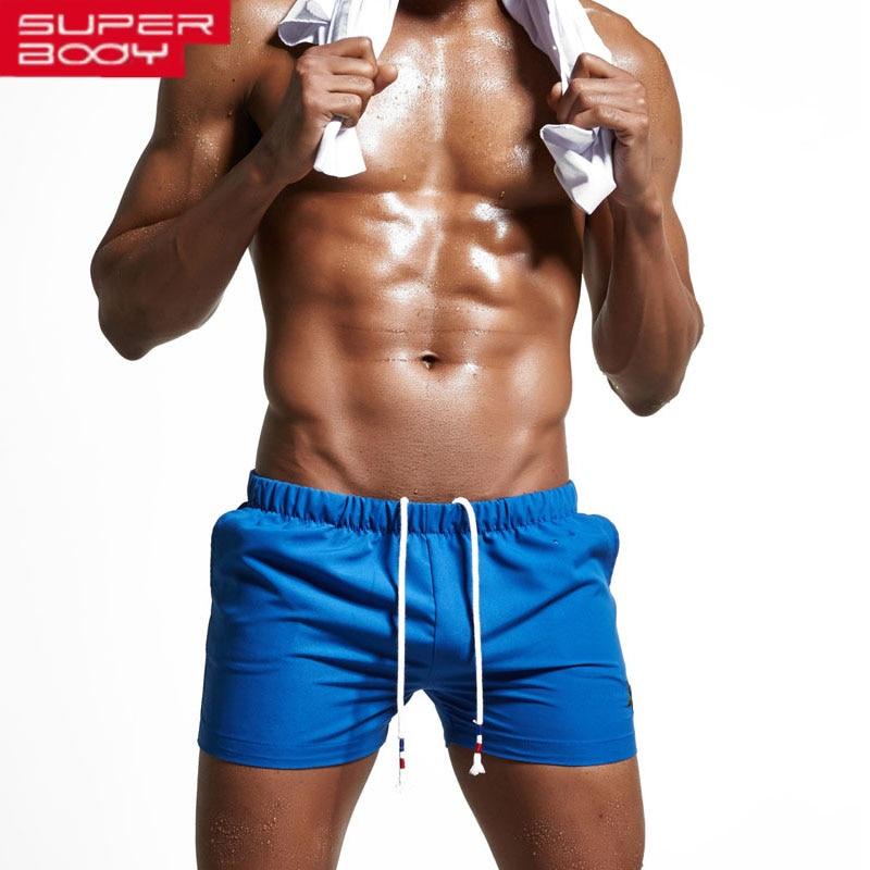 new green blue Shorts Men Swimwear men Swimsuit boxer Man ...