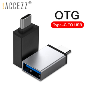 !ACCEZZ OTG USB Type C Adapter For One Plus 5 For LG G5 G6 Xiaomi Mi 5 6 8 Samsung Galaxy S8 S9 Phone Data Sync Flash Converter(China)
