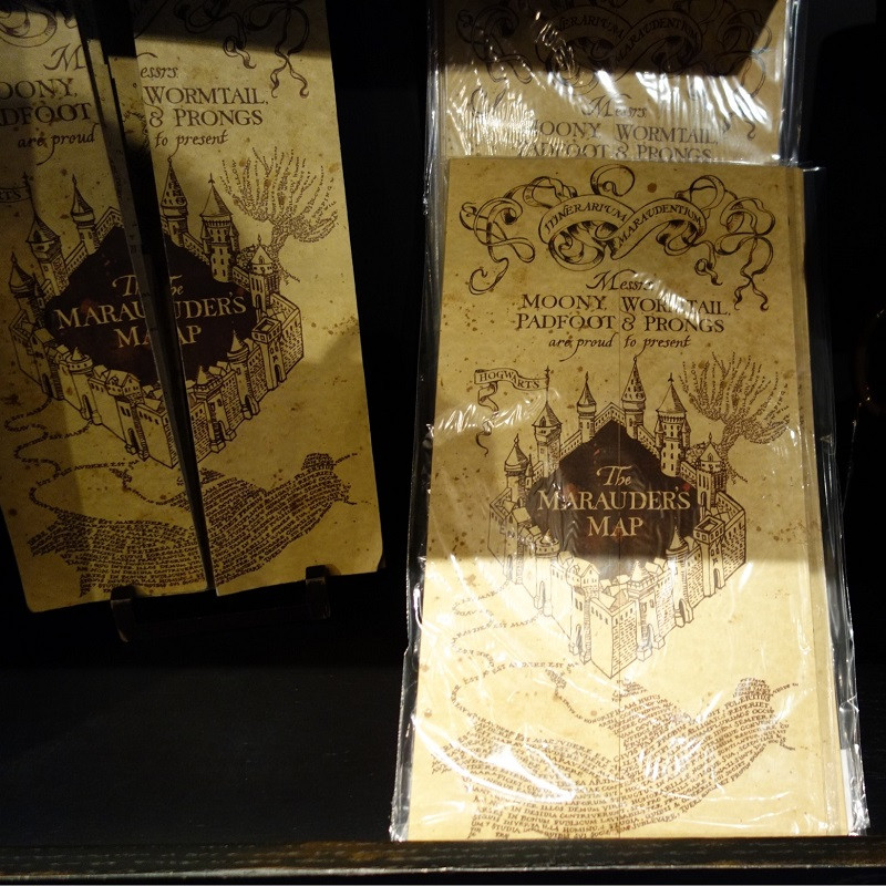 HP el Marauder's mapa calidad mundo mágico calidad regalos Harri Potter Fans partido