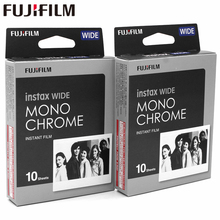 Genuine Fujifilm Instax Wide Monochrome Film White 20 Sheets for Fuji Instant Photo paper Camera 300/200/210/100/500AF