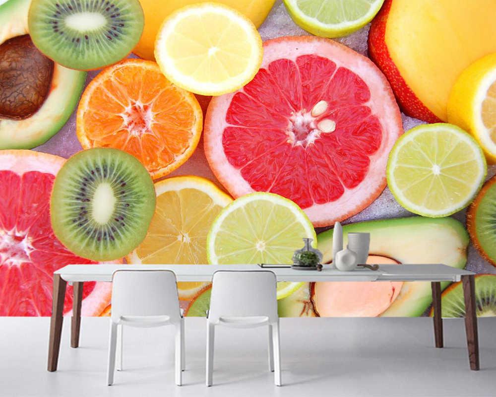 Papel デ Parede フルーツシトラスキウイレモン食品写真の壁紙 リビングルームのソファテレビの壁キッチンレストラン紙家の装飾 壁紙 Aliexpress