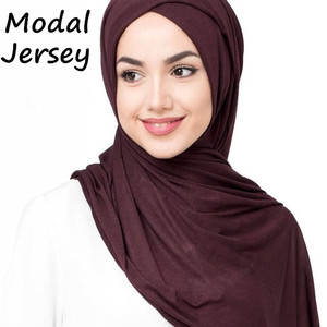 Image 1 - J12 جودة عالية 100% القطن جيرسي الحجاب سيدة شالات طويلة الأوشحة وشاح طويل التفاف عقال 180*80 سنتيمتر 10 قطعة/الوحدة