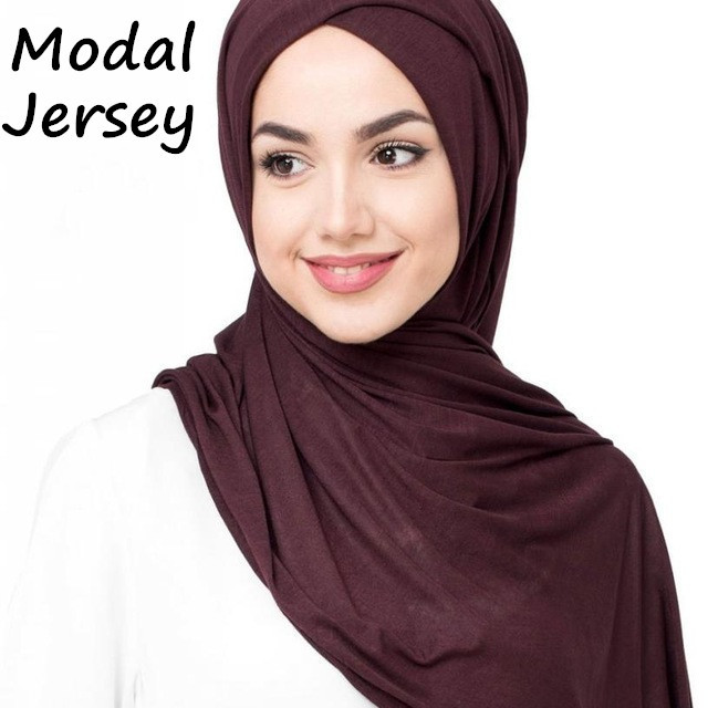 J12 جودة عالية 100% القطن جيرسي الحجاب سيدة شالات طويلة الأوشحة وشاح طويل التفاف عقال 180*80 سنتيمتر 10 قطعة/الوحدة