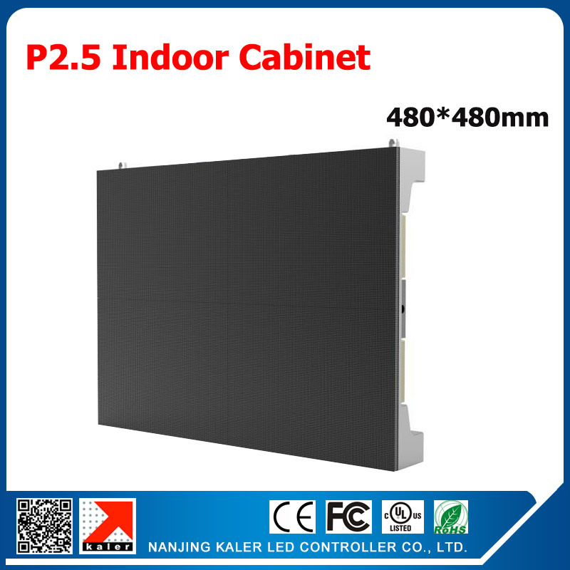 TEEHO Die-cast Aluminum LED Display Cabinet P2.5 Rental Led Cabinet 160*160mm RGB SMD Led Display P2.5 480*480mm