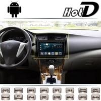 For Nissan Slyphy Pulsar Sentra Bulebird Almera Sunny Car Multimedia DVD Player GPS Navigation Android Big