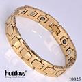 Fashion Tungsten Bracelets Gold Plated Health Care Magnet stackable european Tungsten Bracelets for Women Men Energy Jewelry