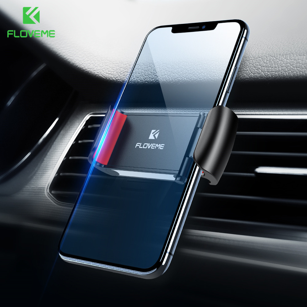 FLOVEME Air Vent Mount Car Phone Holder For Xiaomi Mi9 Mi8 Phone Car Holder Stand Support For Huawei P30 Pro P30 Elefon Tutucu