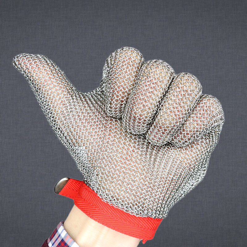 Cut Resistant Gloves Anti Cut Glove 304 Resistant Stainless Steel Wire Metal Mesh Kitchen Butcher Cut-Resistant Safety Gloves