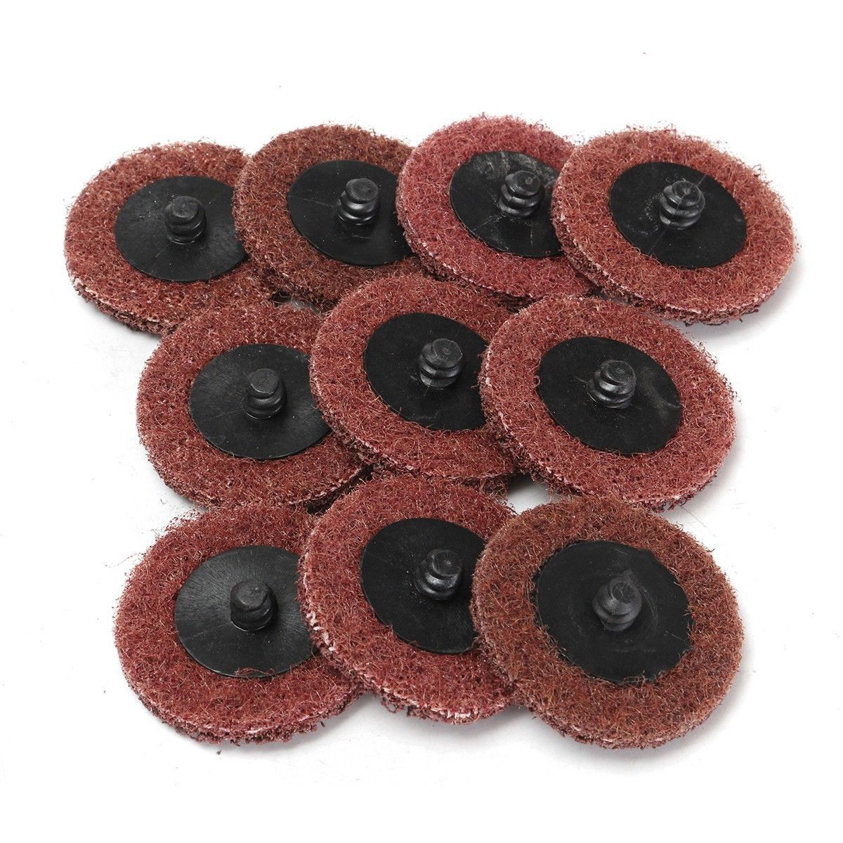 10pcs 120 Grit 50mm/2 Sanding Discs Roloc Roll Lock Surface Medium Coarse Sanding Disc Pads for Metal Polishing Cleaning Mayitr 50pcs set 2 roloc sanding disc scotch brite roll lock coarse surface conditioning for stainless steel standard alloyed steel