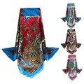 Marca quente Lenços De Cetim Praça Imitado Lenços de Poliéster Xaile Hijab do Lenço da Seda Impresso Para Senhoras Mulheres Foulard bufandas W1