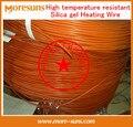 Rápido Envío Gratis 50 m/rollo de Alta temperatura resistente de silicona alambre de la calefacción/manta eléctrica cable de alambre del calentador eléctrico