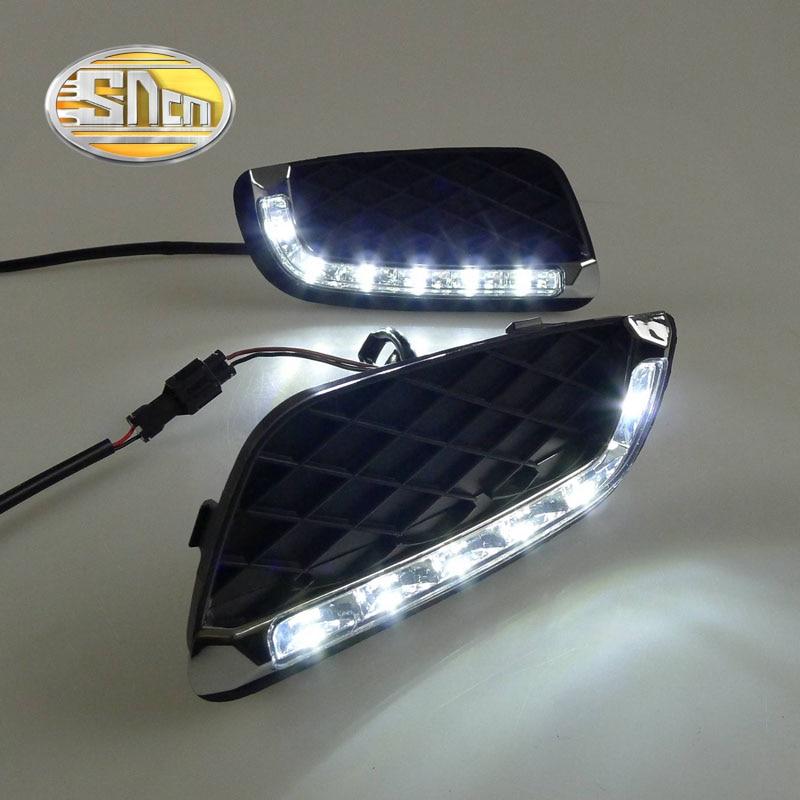 Для MERCEDES BENZ Смарт fortwo 2008 - 2011,супер Яркость Водонепроницаемый АБС автомобиля DRL 12V светодиодные дневные ходовые свет дневного света SNCN