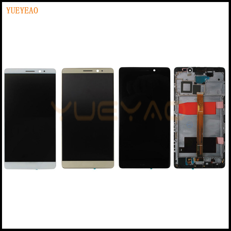 YUEYAO LCD For HUAWEI Mate8 LCD Display+Touch Screen Digitizer MATE 8 For Huawei Mate 8 Lcd with Frame Assembly Replacement Part
