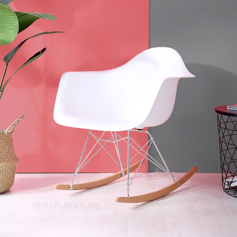 Modern Design fashion Plastic and solid wood Rocking Chair with ...