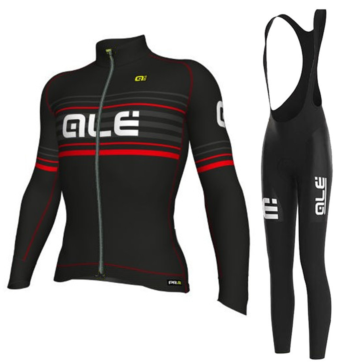 2017 ALE New Long Sleeves Spring/Autumn Cycling Jersey Bib Set Breathable Bicycle Clothing Ropa Maillot Ciclismo with 9D Gel Pad 2018 pro team ale cycling jersey bicycle clothing short sleeve shirt 9d pad bib shorts set breathable quick dry ropa ciclismo