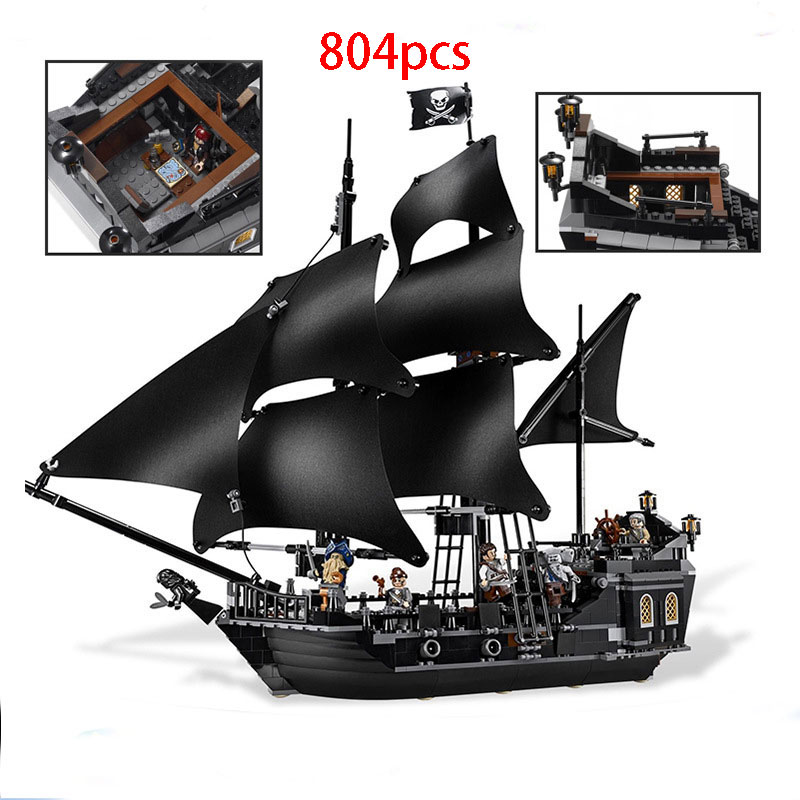 804pcs Pirates of the Caribbean the Black Pearl Building Blocks Set Funny Educational Toys Compatible 4184 for Children gifts 804pcs black pearl ship bricks sale pirates of the caribbean building blocks toys for children compatible with legoingly city