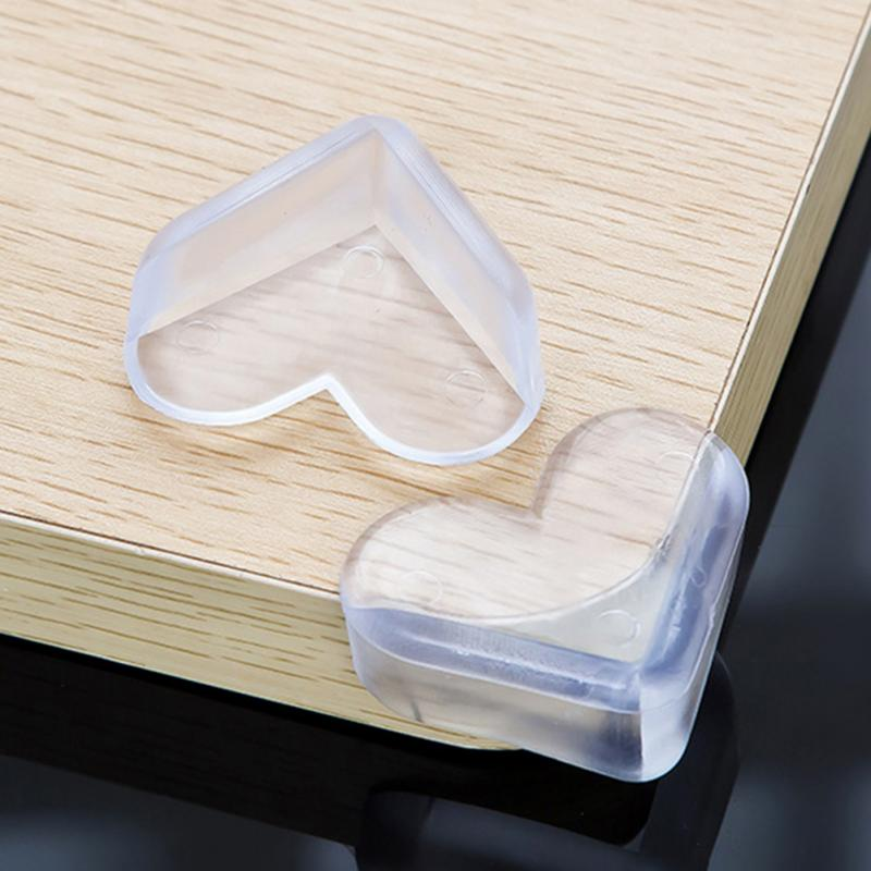 4Pcs Love Heart Shape Child Safety Corner Protector Soft PVC Desk Table Guard Edge Protection Cover Safe Cushion ...