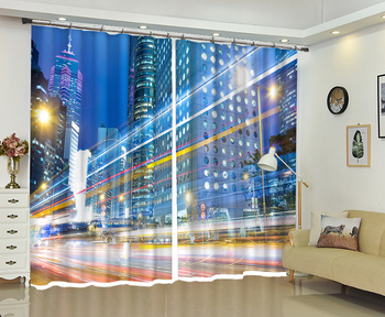 Cars In The City  Printing Bedding Room Sunshade High-precision Shade Curtain for Living Room or Hotel Drapes Cortians