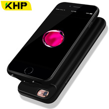 2018 KHP Slim Battery Charger Case For iPhone 7 Plus 6 6s 8 Plus Case 2500/3200mAh Power Bank Case External Battery PowerBank