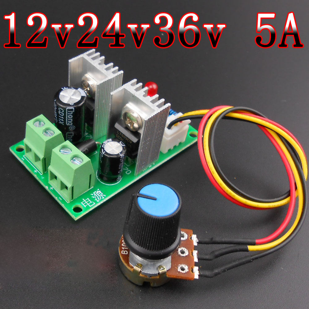 PWM PW PulseWidth DC Motor Speed Regulator 12V 24V 36V 5A Stepless Electronic Speed Regulating Switch Motor controller 20a universal dc10 60v pwm hho rc motor speed regulator controller switch l057 new hot