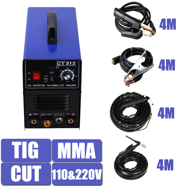 Double Voltage TIG MMA CUT Welding Mulitifunction Machine Equipment CT312 With 4 Meters Torch and holder Factory Price
