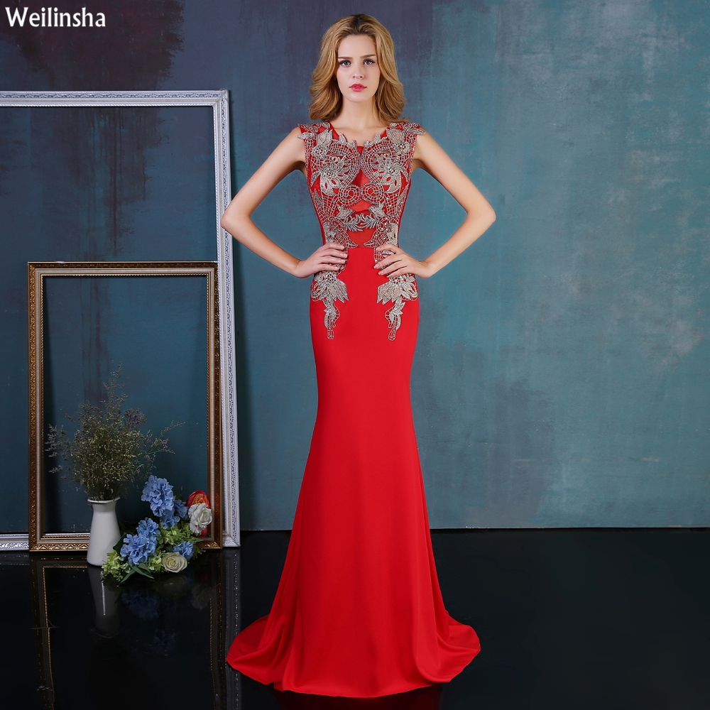 Fine Red Long Party Dress Festooning - All Wedding Dresses ...