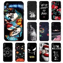 Ojeleye Fashion Black Silicon Case For OPPO REALME 3 Cases Anti-knock Phone Cover REALME3 Covers
