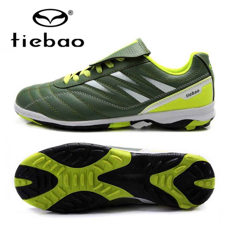 TIEBAO Brand Soccer Shoes TF Turf Outdoor Men Women Football Boots Athletic Trainers Sports Adults Sneakers zapatos de futbol tiebao football shoes men soccer shoes tf turf sole football boot soccer boots sneakers men adults athletic chuteira futebol