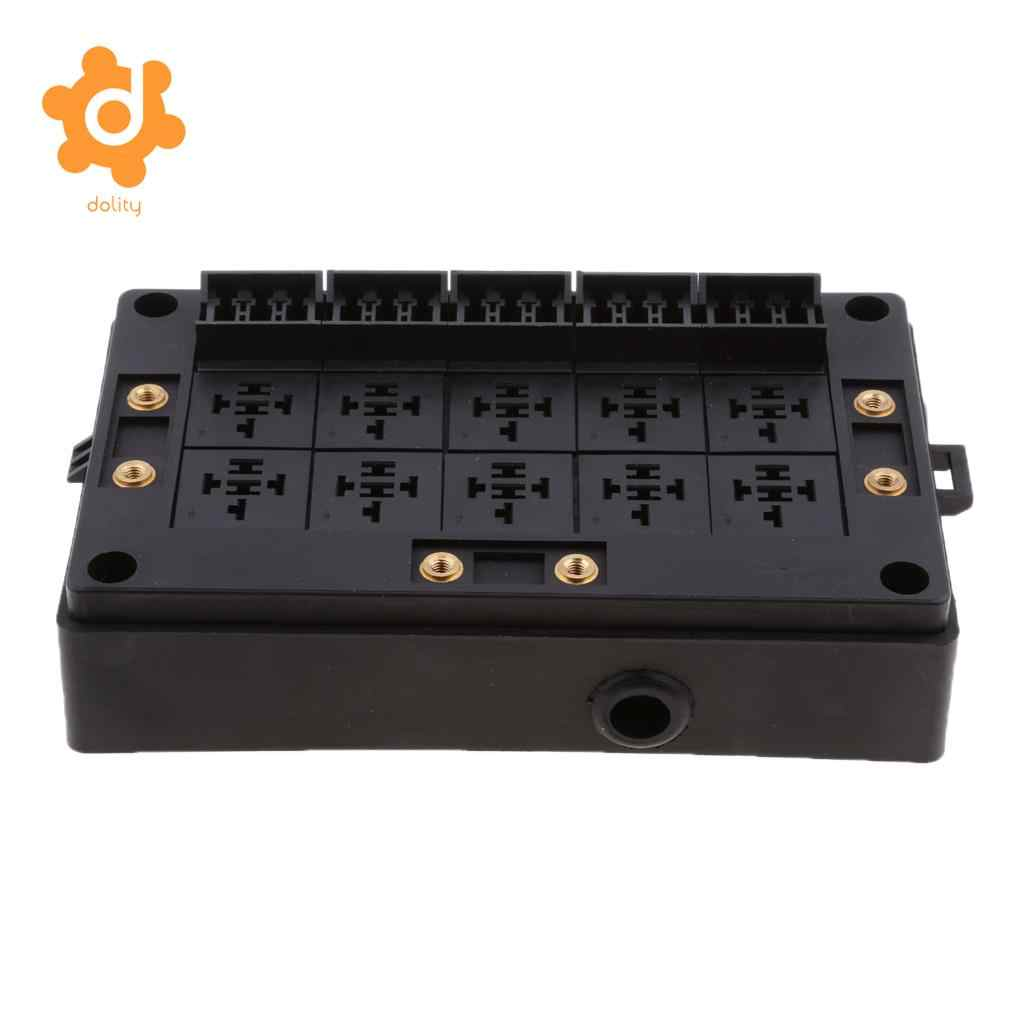 hight resolution of car 18 way blade fuse holder 10 way relay socket fusebox distribution block