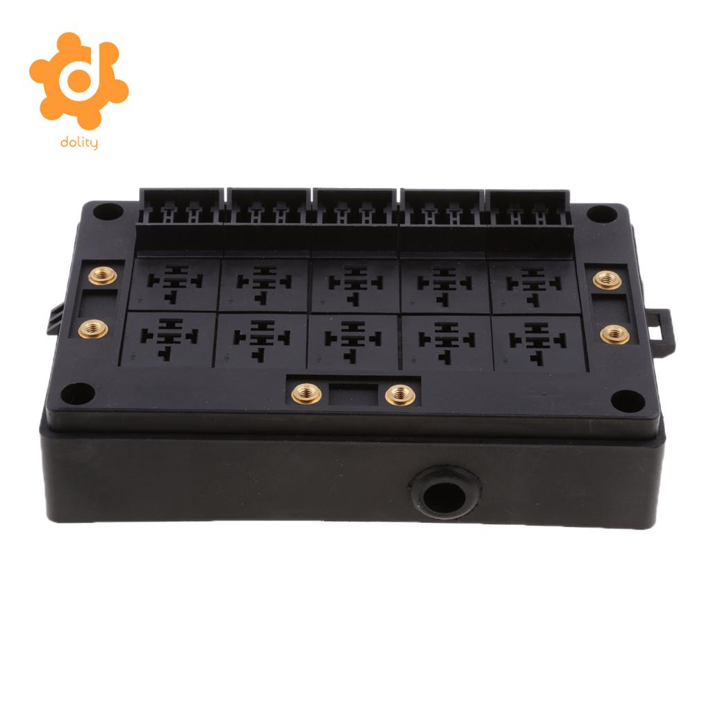 hight resolution of car 18 way blade fuse holder 10 way relay socket fusebox distribution block