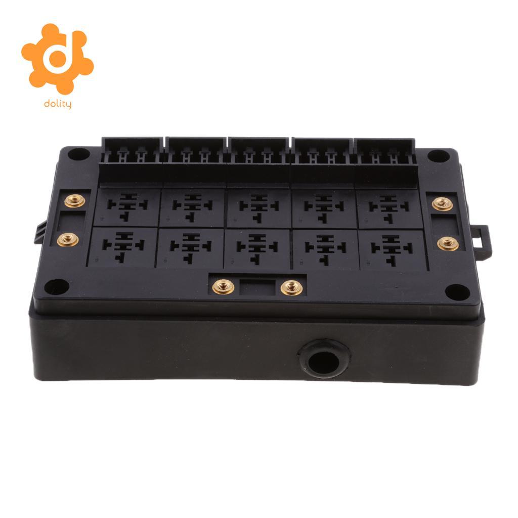 Voiture 18-Way Lame Porte-Fusible 10-Façon Relais Socket Fusebox Bloc De Distribution