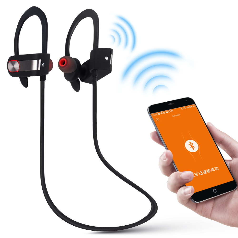 Wireless Bluetooth 4.1 Headphones Headset Earphones Sports In Ear Bluetooth Headphone with Microphone for Phone Computer