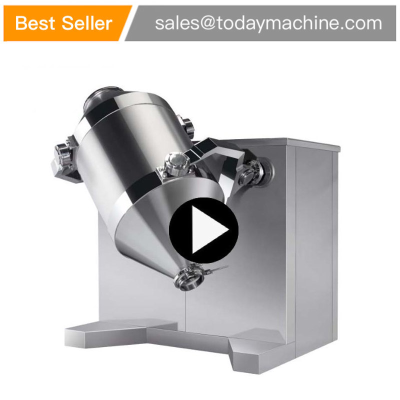 Chemical Powder Ribbon Blender Chicken Granule Chilli Machine Mixer