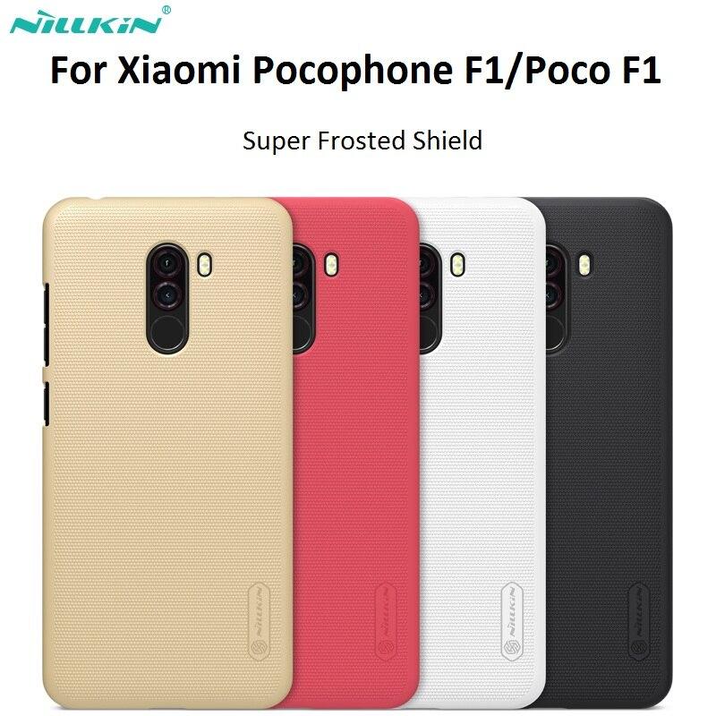 Para Xiaomi Pocophone F1 Nillkin originais Fosco PC Rígido de Volta Caso Capa para POCO F1 versão Global Da Índia 6.18 polegada pocophone f1
