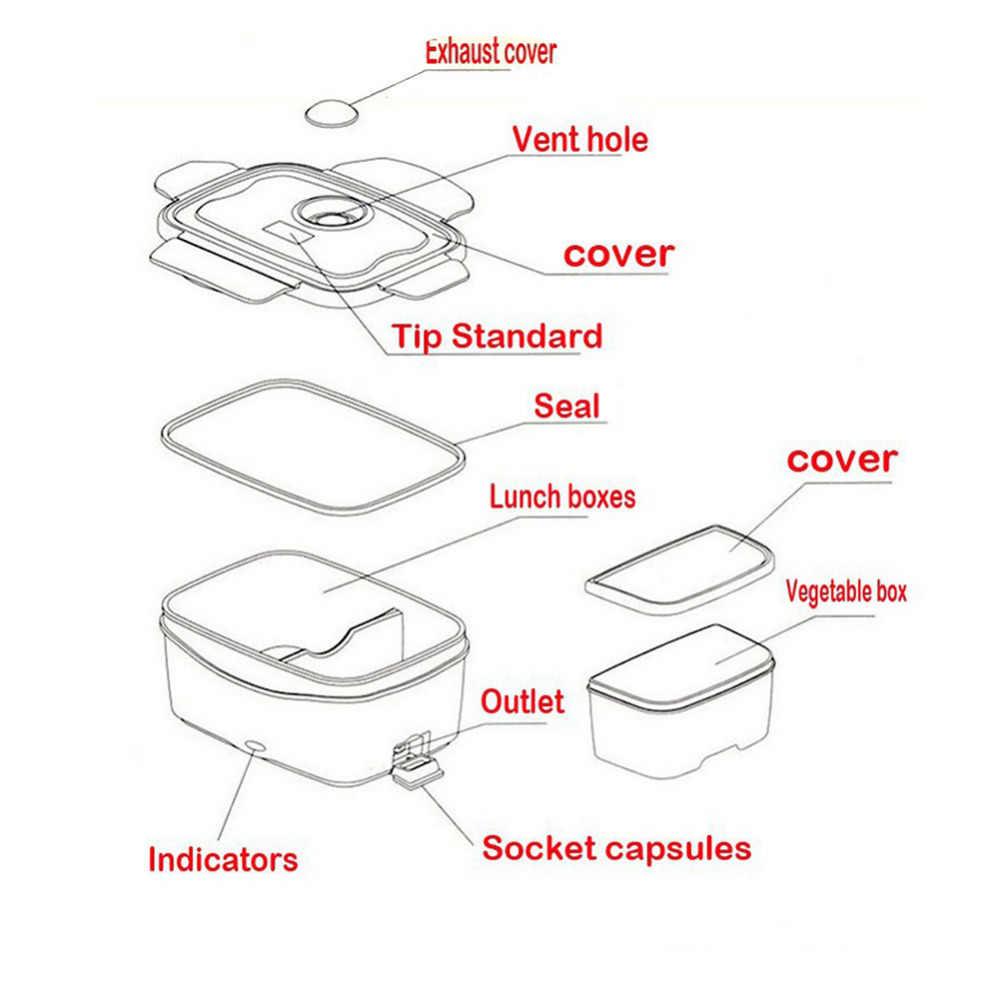 Caja de almuerzo de 220v contenedor de alimentos portátil de calefacción eléctrica calentador de alimentos contenedor de arroz juegos de vajilla para casa Dropship