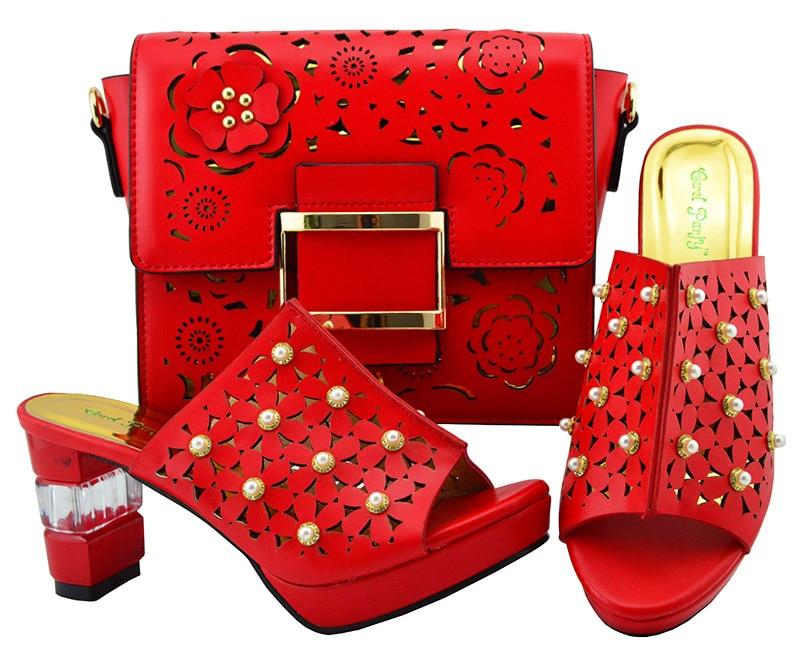 El Rojo De Italia Italiano Zapatos Alta A Boda Y Mujer Zapato Bolso xnv8na