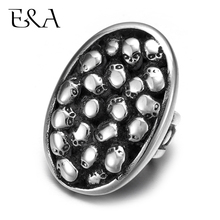 Stainless Steel Slider Beads Skulls Oval Hole 12*6mm Slide Charms for Leather Bracelet Supplies Jewelry Making DIY Accessories