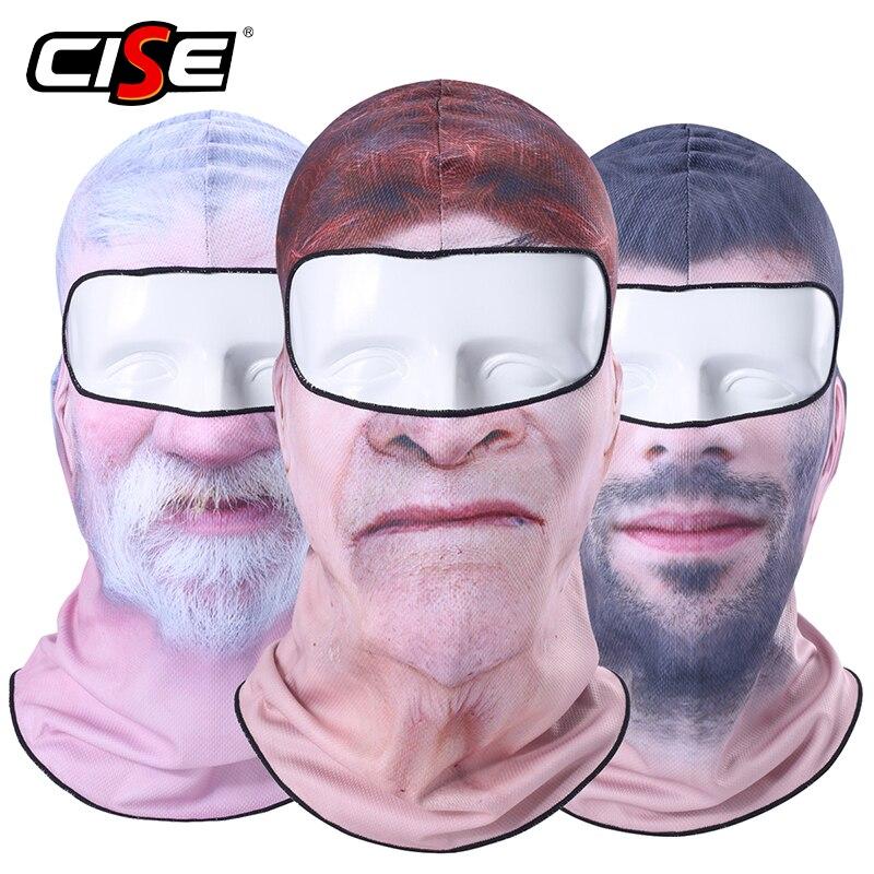 3D Clown Beard Man Motorcycle Balaclava Full Face Mask Warm Helmet Liner Ski Paintball Snowboard Biker Riding  Shield Hood