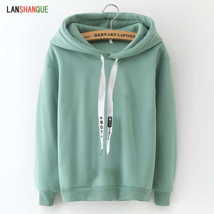 Hoodies Women 2019 Brand Female Long Sleeve Solid Color Hooded Sweatshirt Hoodie Tracksuit Sweat Coat Casual Sportswear S-3XL(China)