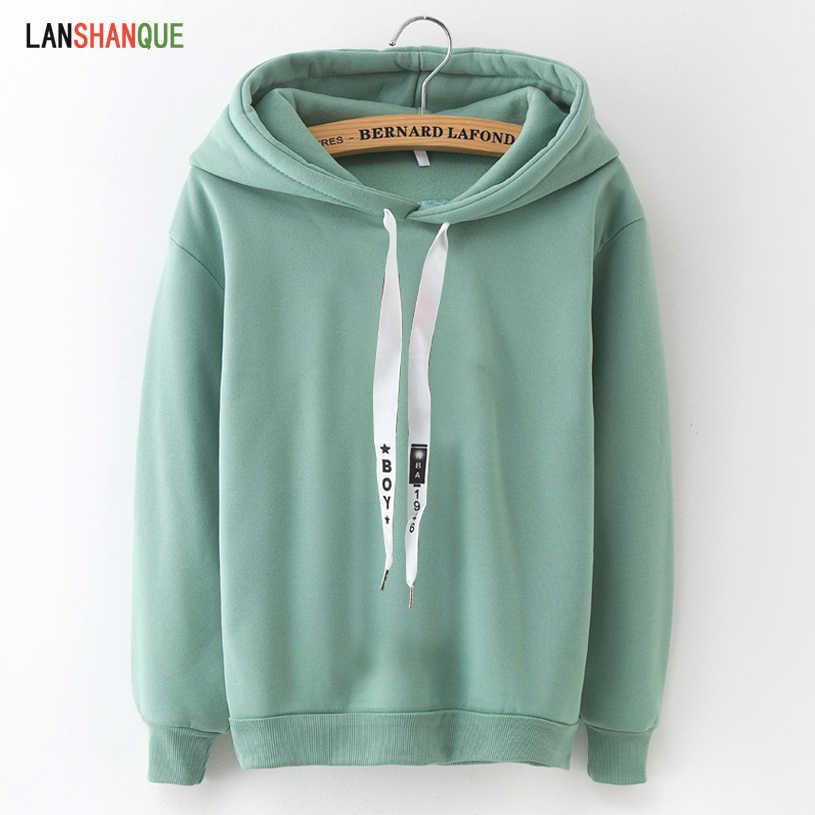 Hoodies Women 2019 Brand Female Long Sleeve Solid Color Hooded Sweatshirt Hoodie Tracksuit Sweat Coat Casual Sportswear S-3XL