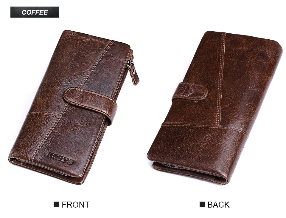 Topdudes.com - 100% Genuine Cowhide Leather Portomonee Vintage Wallet