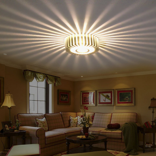 Finether 3W Warm White LED Wall Light For Indoor Living Room Wall ...