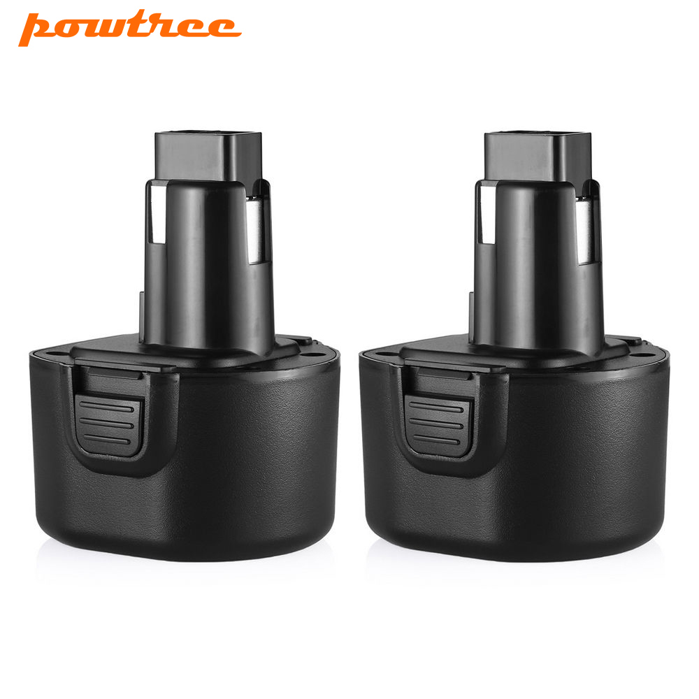 Powtree Pour Black & Decker 2 PCS 9.6 V 3000 mAh PS120 Rechargeable NI-MH batterie Remplacement PS120 PS310 PS3350 CD9600 CD9602K