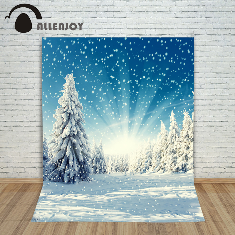 Allenjoy backdrop New Christmas backgrounds for christmas photo studio Snow Light Snow Pine kids photocall 10x10ft lovely