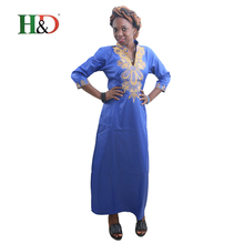 H&D All african traditional dress for women printing robe bazin rich clothes  fabric afrikaanse jurken voor vrouwen traditionele