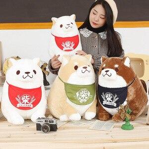 35/42 см Милая японская Толстая плюшевая игрушка для собак Сиба ину, мягкая мультяшная Подушка каваи с животными, милый подарок для детей, малы...