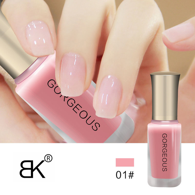 BK Brand Nude Series Translucent Nail Polish Like Jelly Nail Lacquer 12 Colors Long Lasting Enamel Paint 10ml