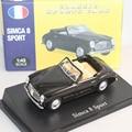 ATLAS NOREV 1:43 Simca 8 Deporte Metal Diecast toy car negro con la caja