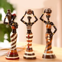 ElimElim 3 Pieces/set Africa Home home ornaments and decoration Doll Figurine Arts And Crafts